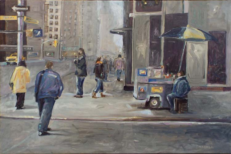 FIRST PLACE: Walking Uptown, Oil by Tom Smagala (February 2014)