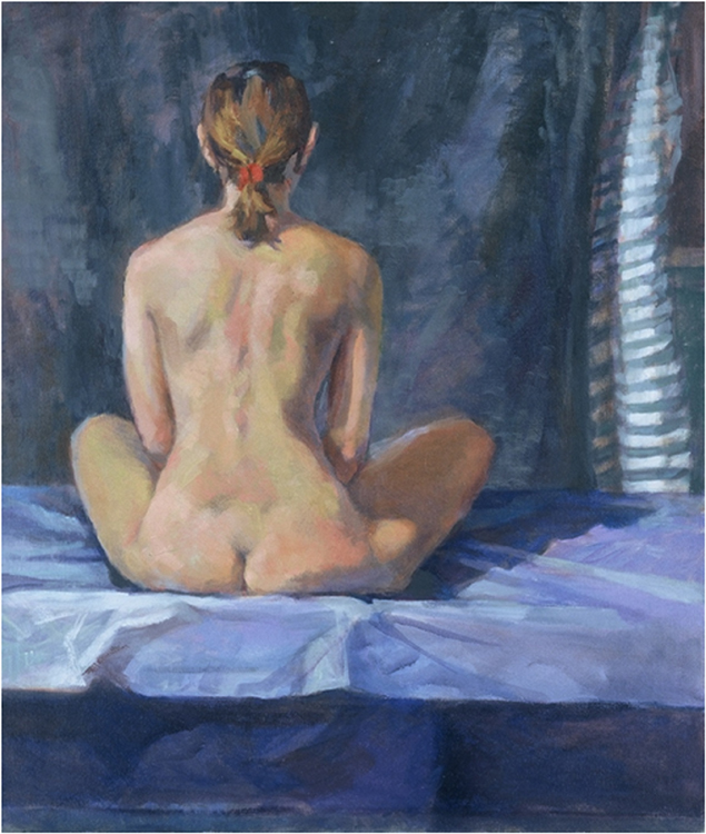 SECOND PLACE: Back Meditation, Oil on Canvas by Tricia Kaman (March 2014)