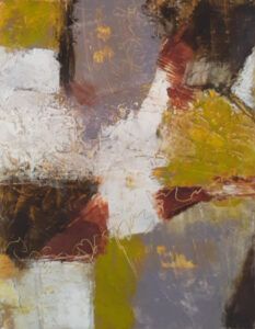Dark Journey, Cold Wax & Oil by Bob Worthy, 18in x14in, $375 (July 2020)