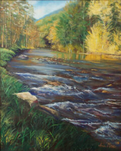 Little Back Creek, Oil by Ina Moss (May 2016)