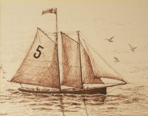 Sailing Home, Pen and Ink by Iryna Hamill  (May 2016)