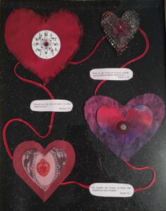 """Operation """"New Heart"""", Collage by Pam Weldon, 14in x 11in, $25 (July 2020)"""