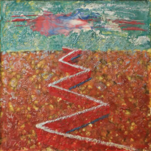 Border between Nations, Encaustic Painting by Patricia Smith (May 2016)