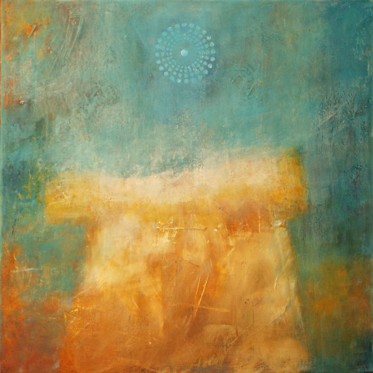 FIRST PLACE: A Thin Place, Oil and Cold Wax by Susan Tilt (May 2016)