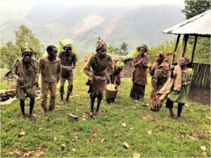 HONORABLE MENTION: Batwa Pigmy Dance, Digital Photography by Chris McClintock, 12in x 16in, $75 (August 2020)