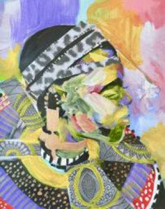 Ceremony, Acrylic & Mixed Media on Paper by Tronja Anglero, $450 (Aug. 2020-Jan. 2021 CBTC)