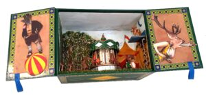 Deer Park, 3-D Assemblage by Kathleen King Mullins, 6in x8inx 4in, $150 (August 2020)