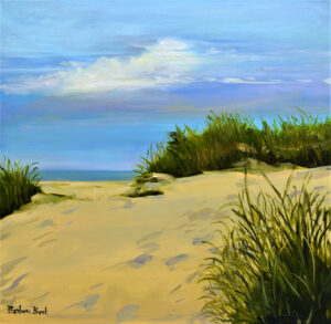 Dunes to Nowhere, Oil on Linen by Barbara Byrd, $800 (Aug. 2020-Jan. 2021 CBTC)