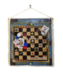 Game Night, Assemblage-Mixed Media by Joan Powell, $300 (Aug. 2020-Jan. 2021 CBTC)