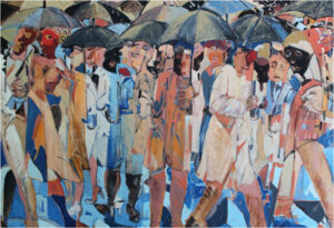FIRST PLACE: Inclement Weather, Oil by Melchus Davis, 26in x 38in, $2244 (August 2020)