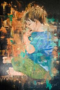 Little Boy Blue, Oil on Canvas by Deborah Ware, $400 (Aug. 2020-Jan. 2021 CBTC)