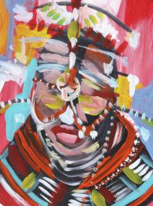 Ritual, Acrylic & Gouache on Paper by Tronja Anglero, $300 (Aug. 2020-Jan. 2021 CBTC)