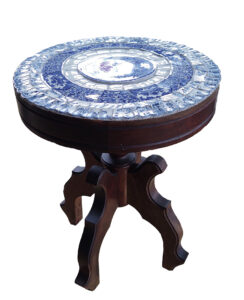 Walnut Table, Mosaic by Joan Powell, $400 (Aug. 2020-Jan. 2021 CBTC)