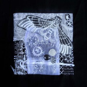 Beloved Rise, Textiles by Maura Harrison, 8in x 8in, $85 (September 2020)