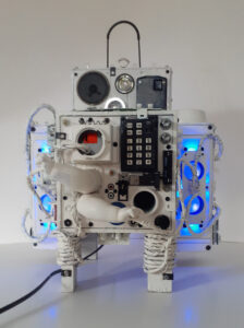 .CMOS, Assemblage-Sculpture by Michael S. Broadway, 20in x 16in x 16in, $500 (September 2020)