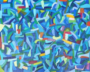 Every Which Way, Acrylic on Canvas by Ellyn Wenzler, 24in x 30in, $540 (September 2020)