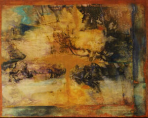 Genesis, Mixed Media by Mary Magneson, 16in x 20in, $300 (September 2020)