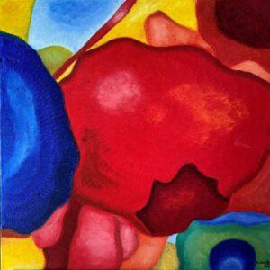 In Bloom- Adam, Oil on Canvas by Beka Wueste, 24in x 24in, NFS (September 2020)