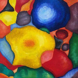 In Bloom- Alissa, Oil on Canvas by Beka Wueste, 24in x 24in, NFS (September 2020)