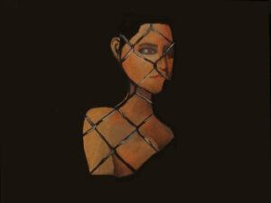 Liz, Pastel & Acrylic by Julia Ramirez, 18in x 24in, $50 (September 2020)