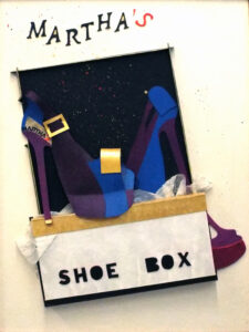 Martha's Shoe Box, Mixed Media by Katharine Owens, 24in x 18in, $610 (September 2020)