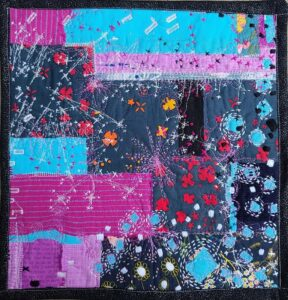 Something For Each of Us, Textiles by Maura Harrison, 12.5in x 12in, $100 (September 2020)