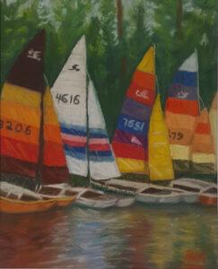 Brandermill Lake, VA, Pastel by Roxana Genovese, 10.5in x 8.5in, $200 (October 2020)