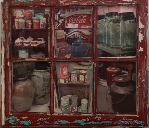 Caroline Street Antiques, Mixed Media-Transfers by Toni Scott, 24in x 28in, $375 (October 2020)