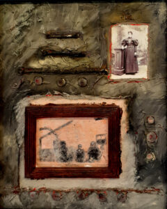 Ever Watchful, Oil-Mixed Media by Toni Scott, 20in x 16in, $400 (October 2020)