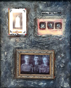 Mary, Clark, and Sada, Oil-Mixed Media by Toni Scott, 20in x 16in, $400. (October 2020)