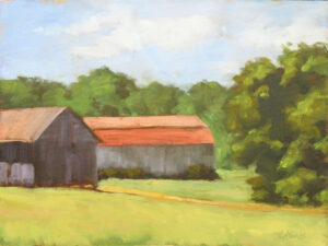 Maryland Backroads, Oil on Panel by Laural Koons, 9in x 12in, NFS (October 2020)