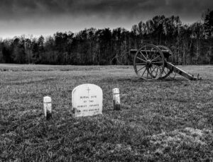 Tragedy at Chancellorsville, B&W Photography by Matthew DeZee, 16in x 21in, $350 (October 2020)