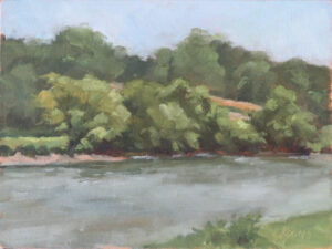 Upper Pontoon Crossing on the Rappahannock, Oil on Panel, Plein Air by Laural Koons, 9in x 12in, NFS (October 2020)