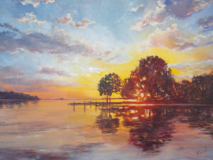Breath-Takin Bovello, Oil by Vicki Marckel, 48in x 36in, $2400 (November 2020)