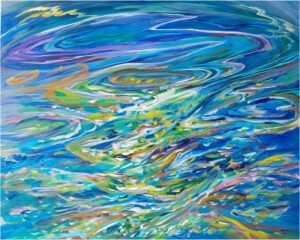 Flowing Melody, Acrylics by Van Anderson, 24in x 30in, $300 (November 2020)