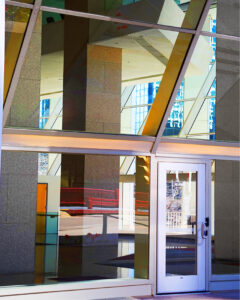 Glass Office Abstract, Archival Metallic Photo by Deborah D. Herndon, 20in x 16in, $240 (November 2020)