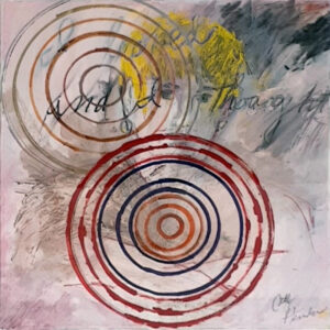 I Looked And Then I Thought, Mixed Media by Cathy Herndon, 14in x 14in, $295 (November 2020)