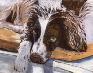 Is It Time Yet?, Pastel by Roxana Genovese, 9.5in x 12in, NFS (November 2020)