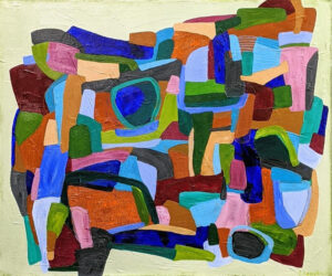 Minerals and Jewels, Acrylic on Canvas by Ellyn Wenzler, 20in x 24in, $440 (November 2020)