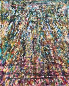 Sun Shine, Mixed media Collage- Acrylic Paint by Elizabeth Shumate, 20in x 16in, $425 (November 2020)