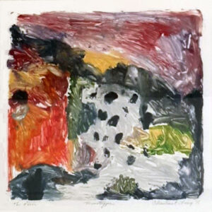 The River, Monotype Print-Oil by Christine E Long, 13in x 13in, $250 (November 2020)