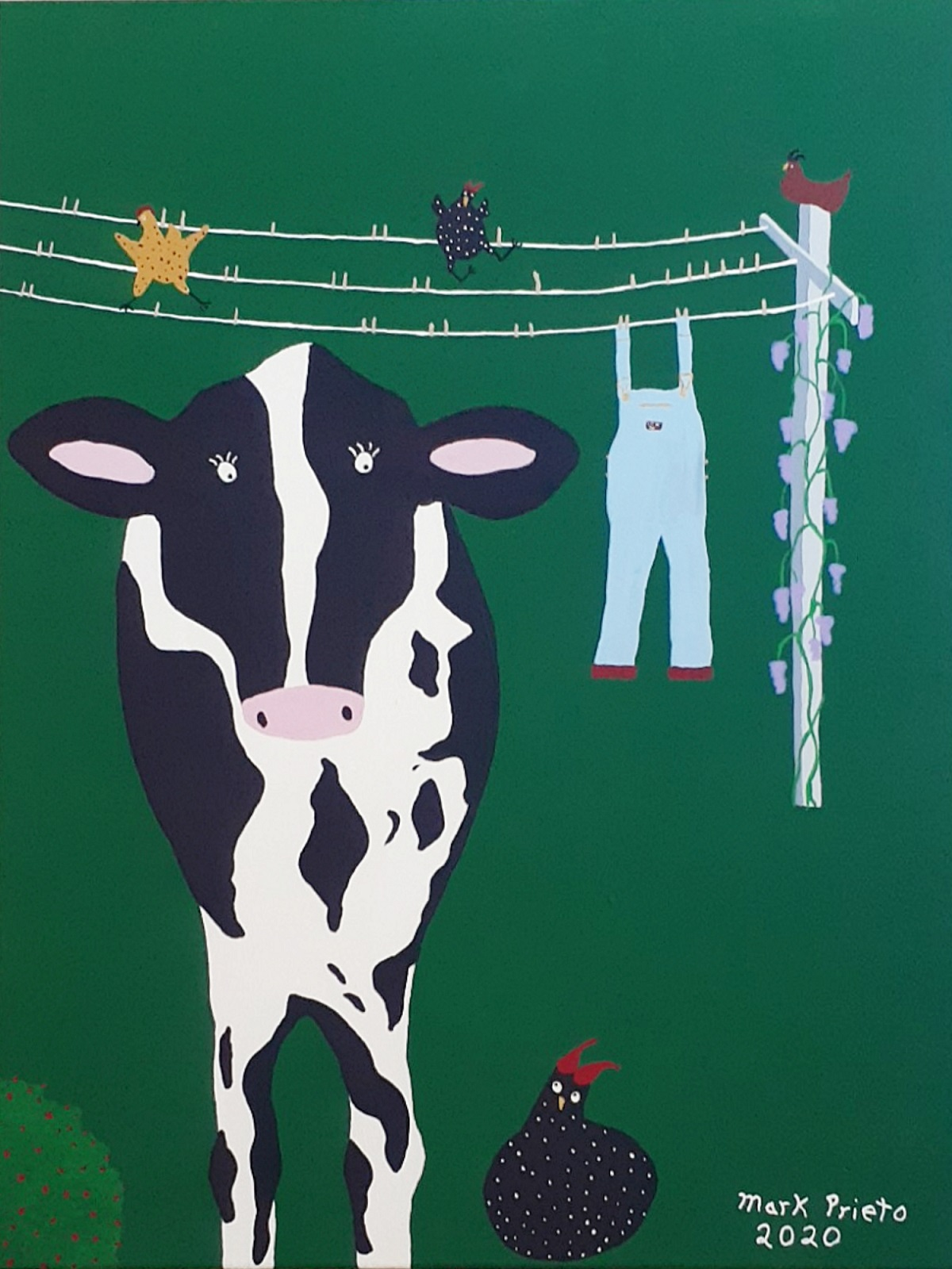 Cow with Overalls, work by Mark Prieto (MG: December 2020)