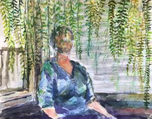 Fern, Watercolor by Elizabeth Shumate, 11in x 14in, $250 (Dec. 2020 - Jan. 2021)