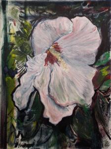 Hibiscus No.1, Oil by James Frederick Hinz, 48in x 36in, $950 (Dec. 2020 - Jan. 2021)