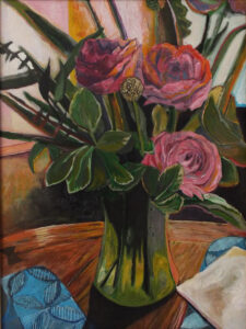 Pink Roses, Acrylic by James Williamson, 16in x 12in, $150 (Dec. 2020 - Jan. 2021)