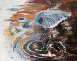 The Wait, Oil by Charlotte Richards, 24in x 30in, $600 (November 2020)