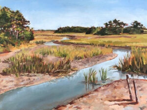 Through Salt and Marsh, Oil by Leslie C. Orton, 9in x 12in, $200 (Dec. 2020 - Jan. 2021)