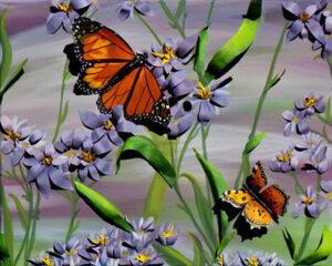 Butterflies Aloft, Acrylic and Paper by Abbi Molzahn (October 2015)