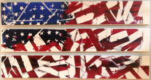 Folded Flags, Screenprint, Maple, White Pickle Stain, Screenprint Lacquer by Alicia Dietz  (November 2015)