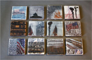 The Sacrifice, Wood Encaustic paints, Image Transfers by Alicia Dietz  (October 2015)